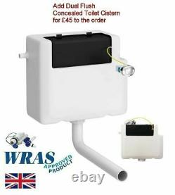 1000mm White Square High Gloss Combined Vanity Unit back to wall toilet wc