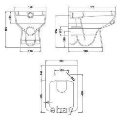 1050mm Bathroom Vanity Basin Sink Unit & Toilet Multiple Pan Options