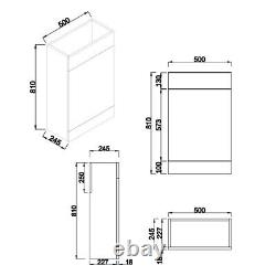 1100mm Combination Vanity & Toilet Unit with Back to Wall Pan & Seat White