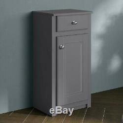 1167mm Cambridge Midnight Grey Combined Vanity Unit Back to Wall Pan toilet wc