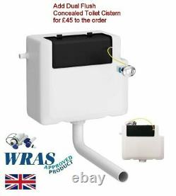 1167mm Matt White Combined Vanity Unit Back to Wall Pan Toilet Wc floor stand