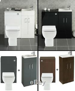 400 Bathroom Vanity Combination Unit Cloakroom Suite 500 Back To Wall Toilet Tap