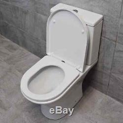 400mm Wall Hung Vanity Unit Basin Sink & RimlessToilet Set En suite Bathroom