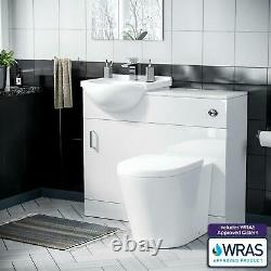 450 mm Basin Vanity Cabinet & Back To Wall WC Toilet Combined Funiture Suite