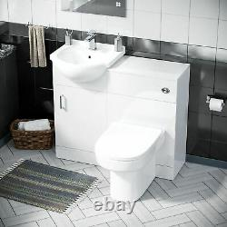 450 mm Cloakroom Basin Vanity Cabinet & Back To Wall WC Toilet Suite Ingersly