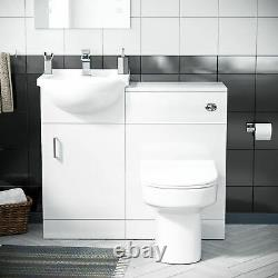 450 mm Flat Pack Vanity Cabinet, Basin & Back To Wall Toilet Suite Ingersly