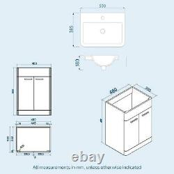500mm Steel Grey Vanity Cabinet with WC Unit And Back To Wall Toilet Amie