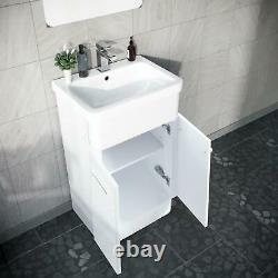 500mm White Vanity Cabinet with WC Unit And Rimless Back To Wall Toilet Amie