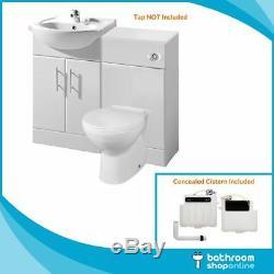 650mm Bathroom Furniture Vanity Unit Cabinet Toilet Basin Back To Wall Cloakroom