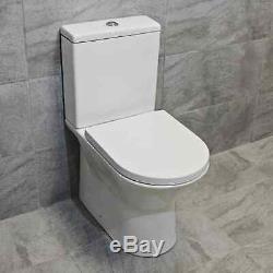 650mm Vanity Unit + Rimless Toilet Option Basin Sink Bathroom Suite Set + Tap