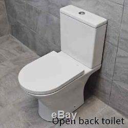 850mm Vanity Unit + Rimless Toilet Option Basin Sink Bathroom Suite Set + Tap