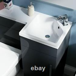 900mm Right Hand Basin Dark Grey Vanity Cabinet and Back To Wall Toilet Finn