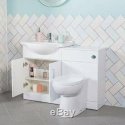 Absolute 650mm Vanity Unit & 500mm Back to Wall Toilet Unit with Toilet & Basin