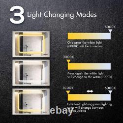 Anti-fog Bathroom Mirror, Frame less Rectangle LED Vanity Mirror for Wall Mirror