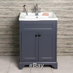 Arabella Traditional Vintage Vanity Unit Storage Cabinet Mirror Bathroom Suite
