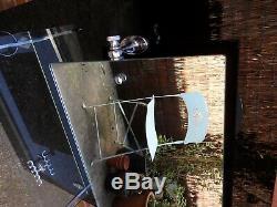 Art Deco Black & Chrome Vitralite Bathroom Splash Back