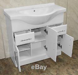 BATHROOM VANITY UNIT SINK ACRYLIC BATH 1700 x 700 BACK TO WALL TOILET CISTERN