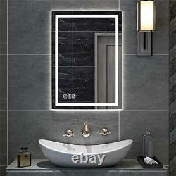 BZ 32x24 inch LED Bathroom Mirror, Wall Mounted Bathroom Vanity Mirror, Dimmable