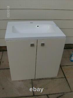 Back to Wall Vanity unit + sink, Mixer Tap and pop up waste New