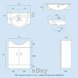 Back to Wall WC Toilet Pan & Basin Sink Vanity Unit Bathroom Furniture Laguna