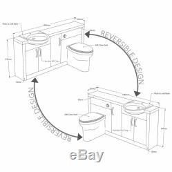 Back to wall 1500mm walnut black vanity sink toilet tap unit with cistern 4L15B