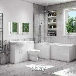 Basin Vanity Combination Unit with Back to Wall Toilet 550mm Classic Range