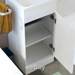 Bathroom 900 mm White LH Basin Sink Vanity Unit WC Back To Wall Toilet Lovane