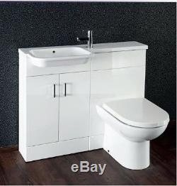 Bathroom Donatello Combi Pack Vanity Back to wall Unit Vanity Basins Cupboard