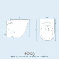 Bathroom Grey RH Basin Vanity Unit WC Back To Wall Toilet 1100mm Aric