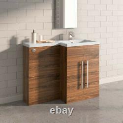 Bathroom Vanity Unit BTW Toilet Suite Basin Sink Cabinet Storage Tall Furniture