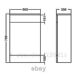 Bathroom Vanity Unit & Back To Wall WC Toilet Unit 1150 Pan Options 650 +500