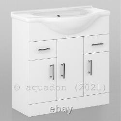 Bathroom Vanity Unit & Back To Wall WC Toilet Unit 1450 Pan Options 850 +600