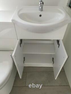 Bathroom Vanity Unit Basin Sink Back to Wall Toilet Furniture Suite 1020mm