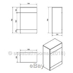 Bathroom Vanity Unit Cloakroom Cabinet BTW Back to Wall Linton WC Toilet Taps
