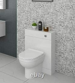Bathroom WC Unit Vanity Back to Wall Furniture White High Gloss Modern 500/300mm
