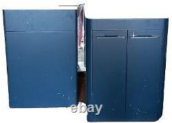 Blue vanity unit and basin (600mm) with Back to wall toliet unit