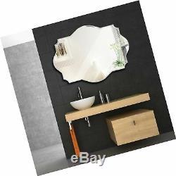 COMMODA Frameless Wall Mirror Glass Wood Backing Vanity Bedroom Bathroom Hang
