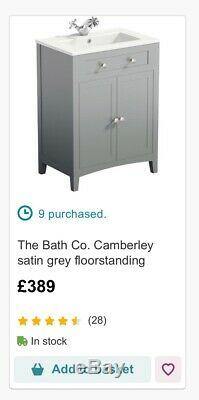 Camberley Sage Green Vanity Unit And Back To Wall Toilet Unit