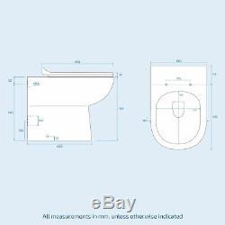 Cloakroom Basin Vanity Sink Unit & Back To Wall Toilet WC Cistern Ensuite Debra