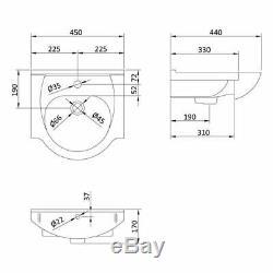 Cloakroom Basin Vanity Sink Unit & Back To Wall Toilet WC En-suite Zebra