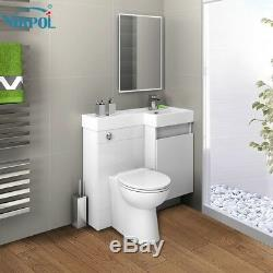 Combination Bathroom Vanity Unit&Basin Back To Wall Toilet 906R Collection only