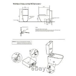 Complete Bathroom Pack With White 550mm Vanity Unit Basin & Toilet for Cloakroom