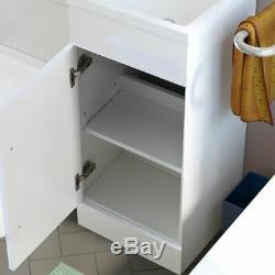 Elen 900mm Bathroom White Basin Vanity Unit Back To Wall WC Rimless Toilet RH