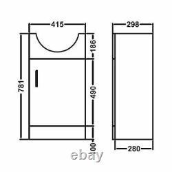 Flat Pack Cloakroom Vanity Unit, Basin & Back To Wall Toilet WC En-suite Zebra