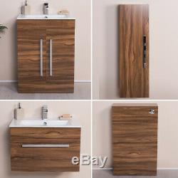Floor Standing Vanity Unit Bathroom Wall Hung Cabinet Tall Storage BTW Toilet