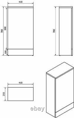 Gloss White Bathroom Vanity Basin Sink Back To Wall Toilet Unit Furniture WC