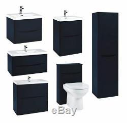 Indigo Blue Modern Bathroom Vanity WC and Basin Units