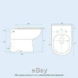 Ingersly Bathroom Basin Sink Vanity Light Grey RH Unit WC Back To Wall Toilet