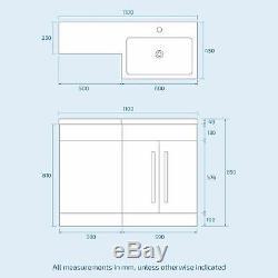 Ingersly Right Bathroom Grey Vanity Furniture Basin Back To Wall Toilet