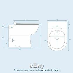 LH Vanity Sink Basin Unit Back to Wall WC Rimless Toilet Bathroom Suit Debra